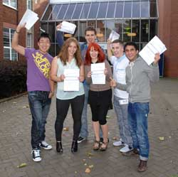 Students celebrate their results