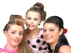 Left to right: models Kelly Taylor age 23 from Dudley, Hannah Stevens age 13 from Dudley and Leanne Langford age 23 from Dudley