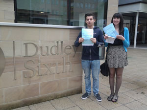 Dudley Sixth students with their A level results