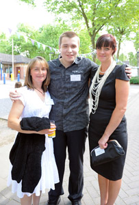Left to right: Sarah Beales Manager at Brockswood Animal Sanctuary with student Jamie Fanthom and tutor Kate Lavender