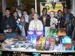 Students with Fairtrade products