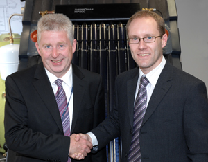 Left to right: Principal Lowell Williams and Andrew Pattison Customer Service Manager of Kingspan