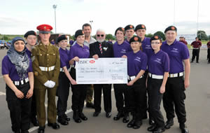 Public Services students present Help for Heroes Cheque