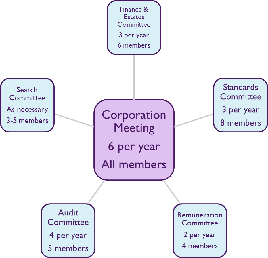 Pictorial representation of committee meeting structure