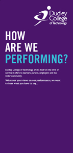 Front cover of 'How are we Performing?' leaflet
