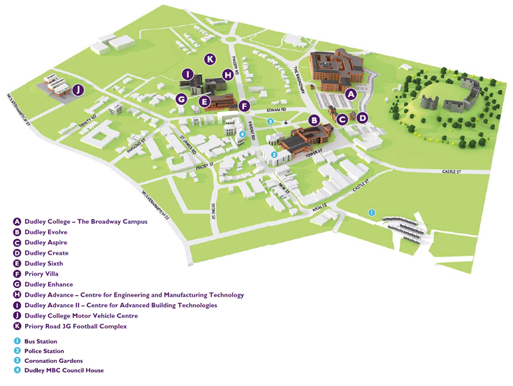 Dudley Learning Quarter Map