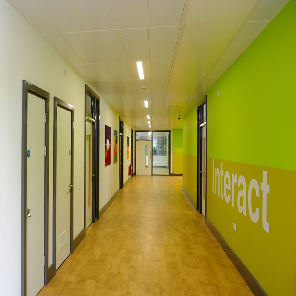 photograph of dudley sixth corridor