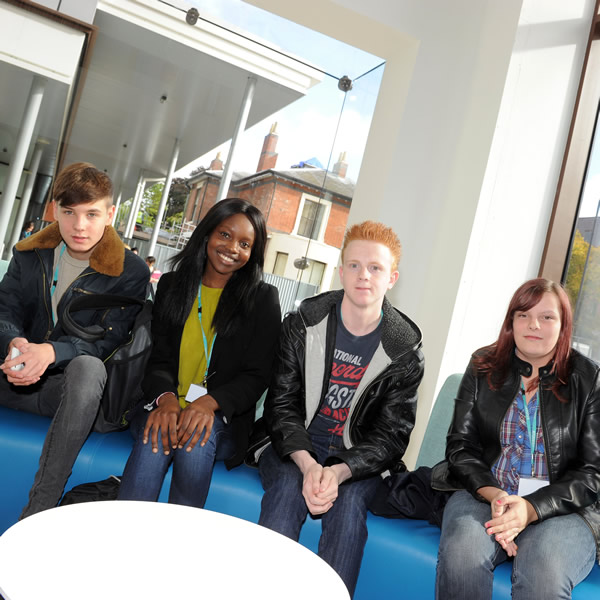 photograph of students in dudley sixth seating area