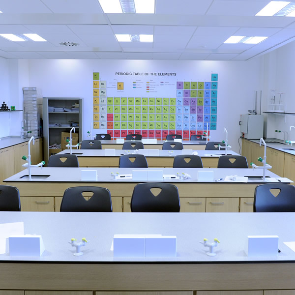 photograph of empty dudley sixth lab