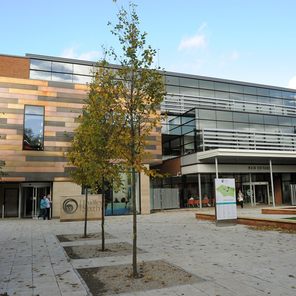 photograph of the outside of dudley sixth