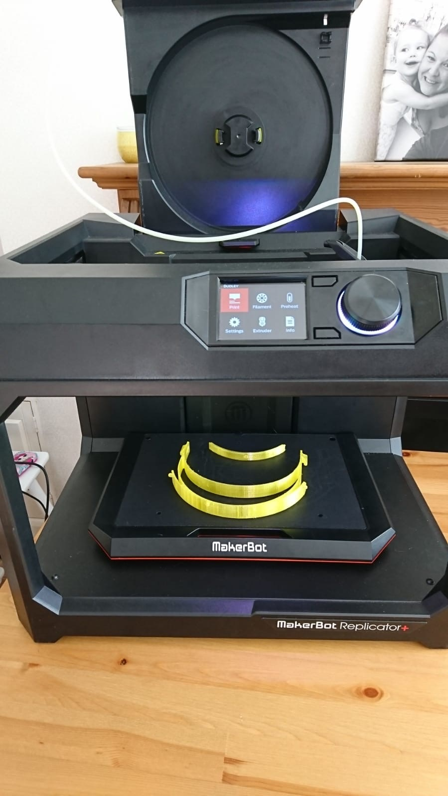 photograph showing 3D printer